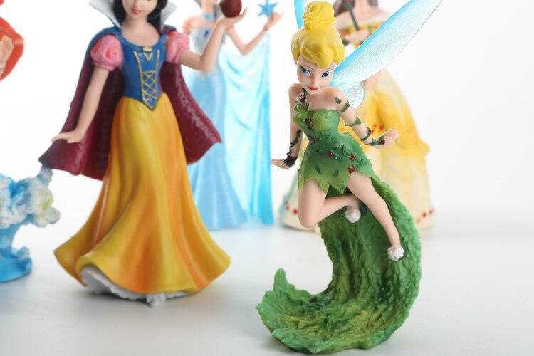 10-13 centímetros Princesa Congelado Elsa Sereia Branca