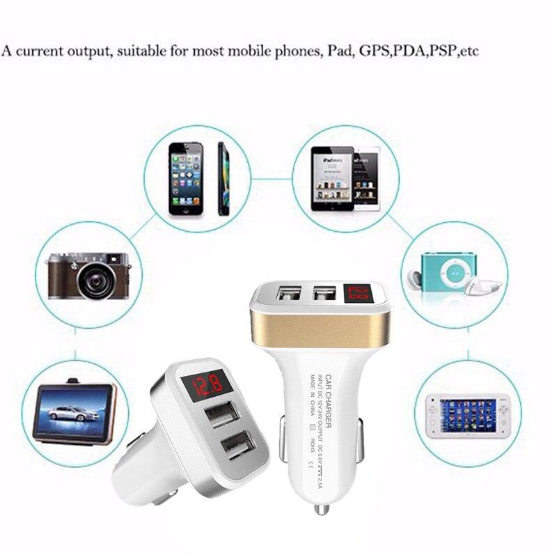Автомобильный прикуриватель power Dual USB адаптер питания с экраном дисплея