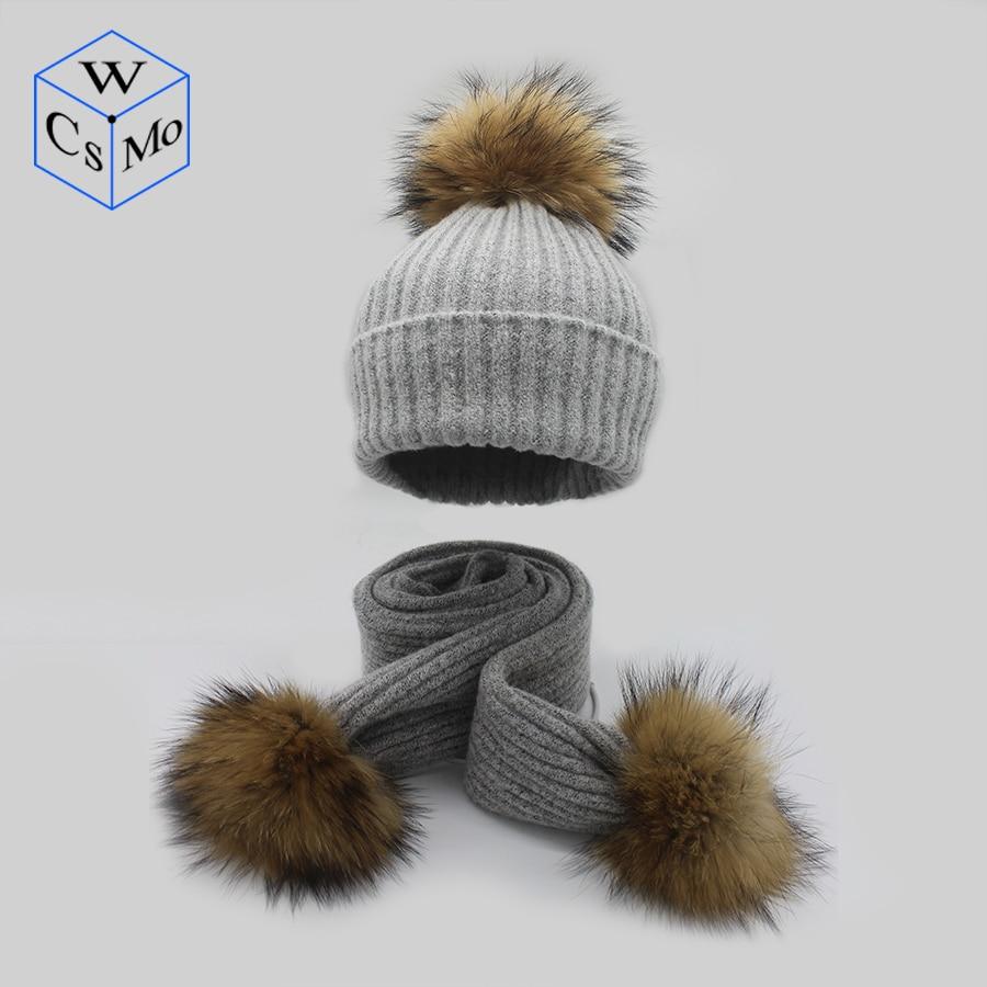 Vornehm Frauen Hut Und Schal Set Gestreifte Baumwolle Acryl Pompom Mode 2019 Hohe Qualität Gestrickte Mützen Neue Hut Weibliche Schals Set Schädel