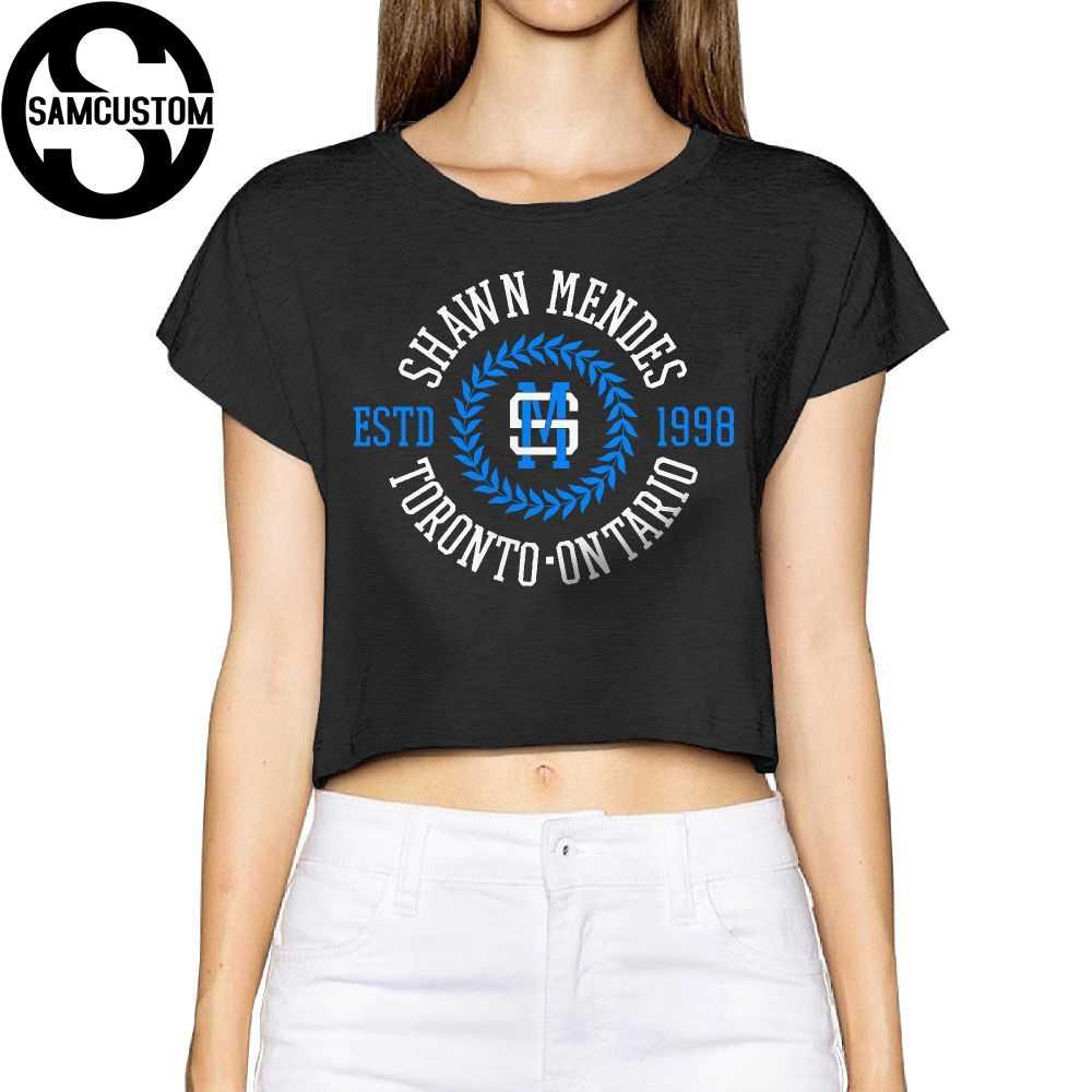 eba352ee2 SAMCUSTOM Camisetas Real Short New Shawn Mendes 3D Summer Fashion Street T  Shirt Anarchy Bare midriff