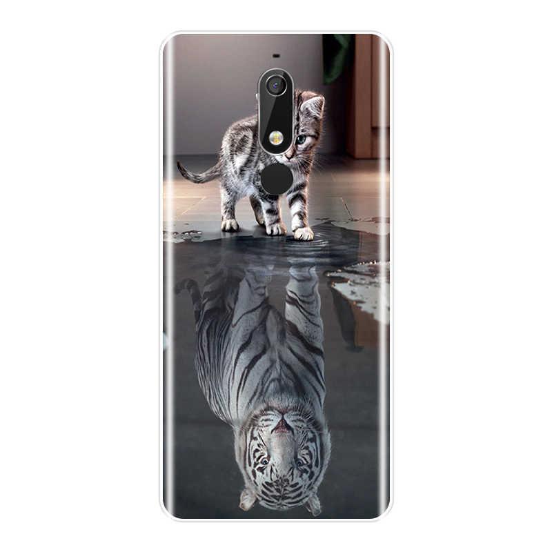 TPU عودة غطاء لعلامة نوكيا 2.1 3.1 5.1 6.1 7.1 جميل الحيوانات لينة سيليكون جراب هاتف لنوكيا 2.1 3.1 5.1 6.1 7.1 زائد