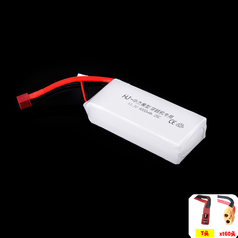 1pcs RC Li-Polymer Lipo Battery 11.1V 4000MAH 25C max 40C 3S for QAV250 Quadcopter FPV RC Car Boat mos rc airplane lipo battery 3s 11 1v 5200mah 40c for quadrotor rc boat rc car