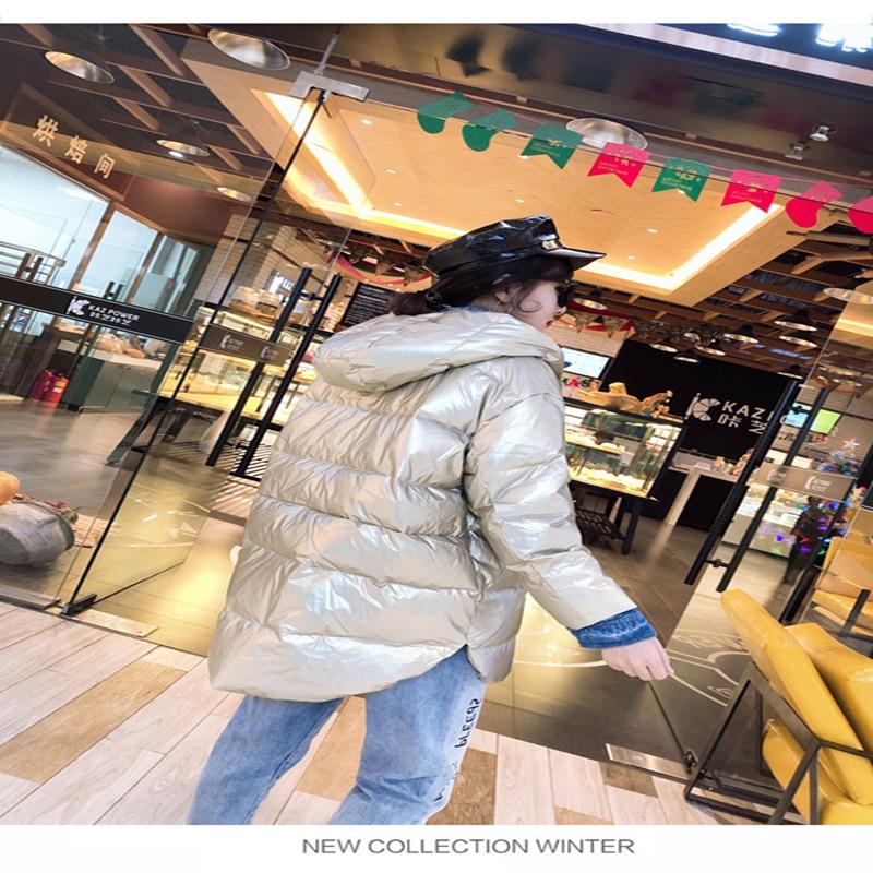 Tcyeek зимняя куртка женские парки Mujer 2019 корейская уличная одежда шляпа толстовки Сращенные модные пальто джинсы подходят Casaco Feminino LW495 - 3