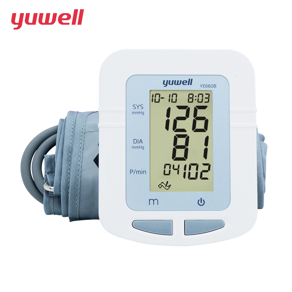 YUWELL Arm Blood Pressure Monitor Portable Digital LCD Medical Equipment Sphygmomanometer Large Cuff Blood Pressure Meter 660B