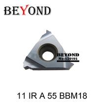 11 IR 55 BBM18, เกลียวแทรก 11 มม. Pitch 0.5 1.5 องศา 55 เคลือบสีดำใช้สำหรับ Threading ผู้ถือเครื่องมือ