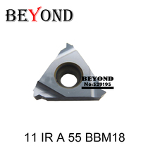 11 IR A 55 BBM18 ,Threading Insert 11mm Internal Pitch 0.5 1.5 Degree 55 Coating Black Use for Threading Turning Tool Holder