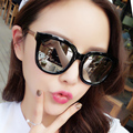 2016 female vintage Large frame glasses sunglasses star Colorful sunglasses custom prescription sunglasse