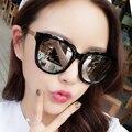 2016 mujeres de la vendimia Grandes gafas de marco gafas de sol estrella gafas de sol de Colores personalizada receta sunglasse