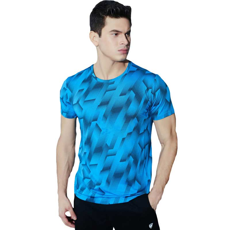 Men GYM Quick Dry Tee Sport Running Yoga Fitness Top Mens Compression Short Sleeve Basketball font