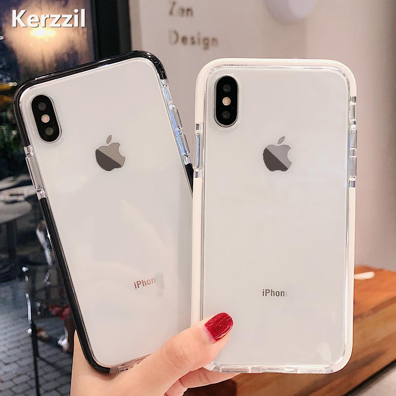 Lack Candy Color Anti-knock Clear Soft Cases For Iphone Xs Max Transparent Protector Back Cover For Iphone 8 Plus 6 6s 7 X Xr Clothes, Shoes & Accessories