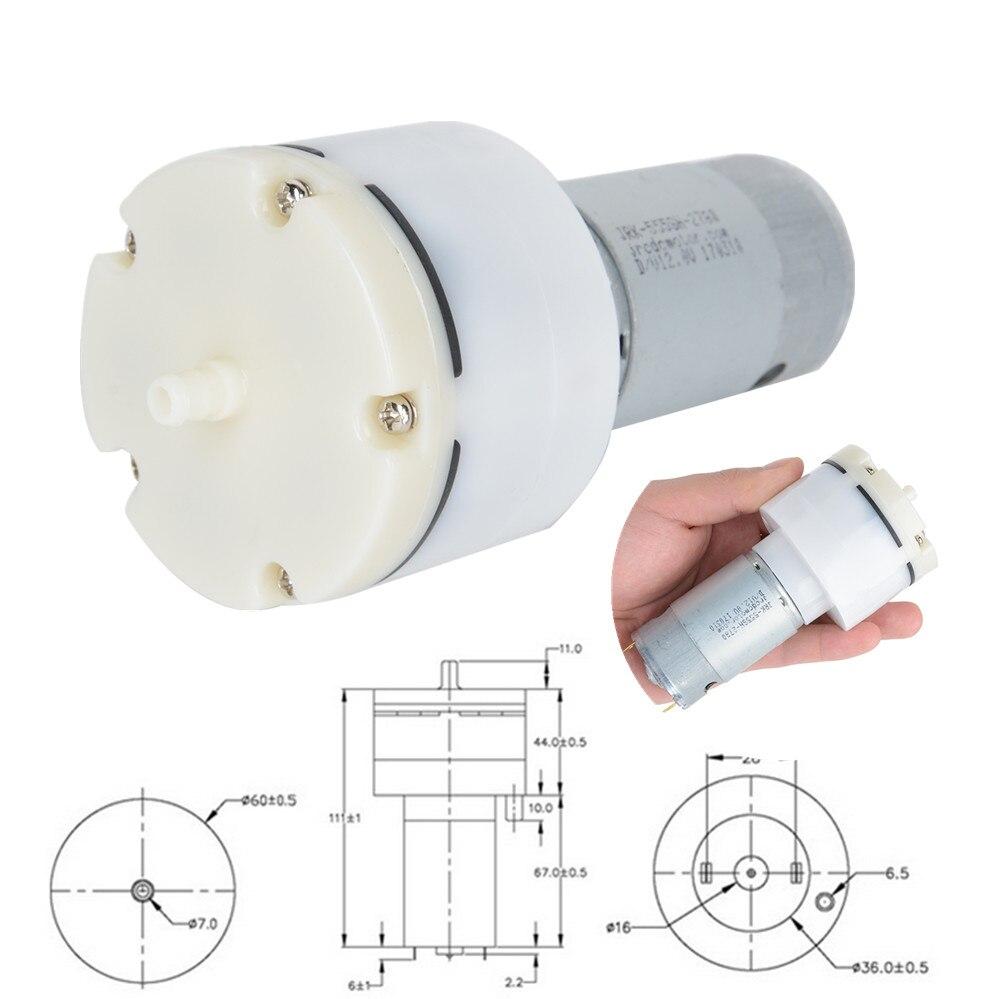 цена на 1pc 12V DC Micro Vacuum Pump Electric Pumps High Pressure Diaphragm Mini Air pump 13L/Min 1500mA For Massage Machine Mayitr