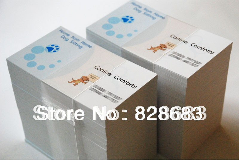 90X54 mm 300gsm white paper with both sides printing full color printing business card 2012 full color 180 pages printing catalog of chef essentials