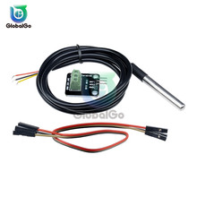 1Set DS18B20 Stainless Steel Waterproof Temperature Sensor Probe 18B20 Temperature Sensor Module Board Adapter Plate