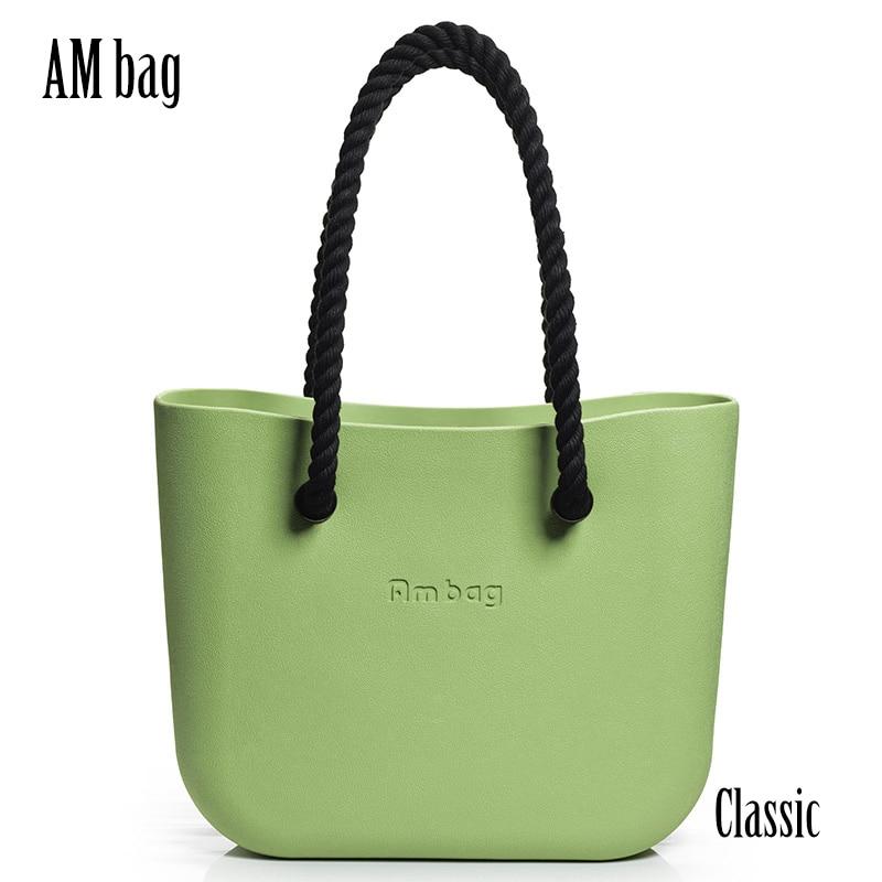 AMbag Obag O Bag Style Waterproof Big Classic DIY Women's Bags Handbag With Lining Insert Rope Hemp