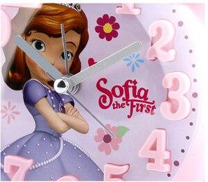 Image 4 - Disney Frozen Elsa Ann Wekker Prinses Sofia Kt Nieuwe 3d Bolle Cartoon Jongen Meisje Student Nachtkastje Bel Wekker nachtlampje