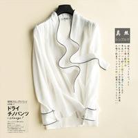 2018 Autumn New Women Silk Shirts Long Sleeves Bow Ties Ribbons OL Silk Shirts White Black Luxury Shirts
