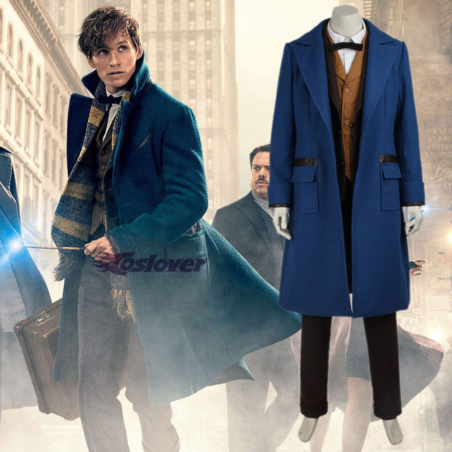 Fantastic Beasts And Where To Find Them Costume Newt Scamander Cosplay Men S Anime Clothing