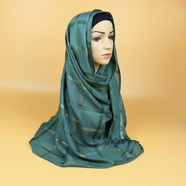 Neu Kommen Mode Goldene Draht Hijab Viskose Muslimischen Kopftuch ...