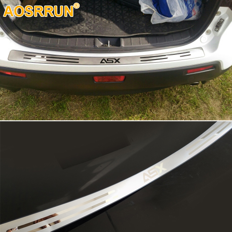 AOSRRUN Free Shipping Stainless steel After guard back Rear Bumper Sill Car Accessories For Mitsubishi ASX