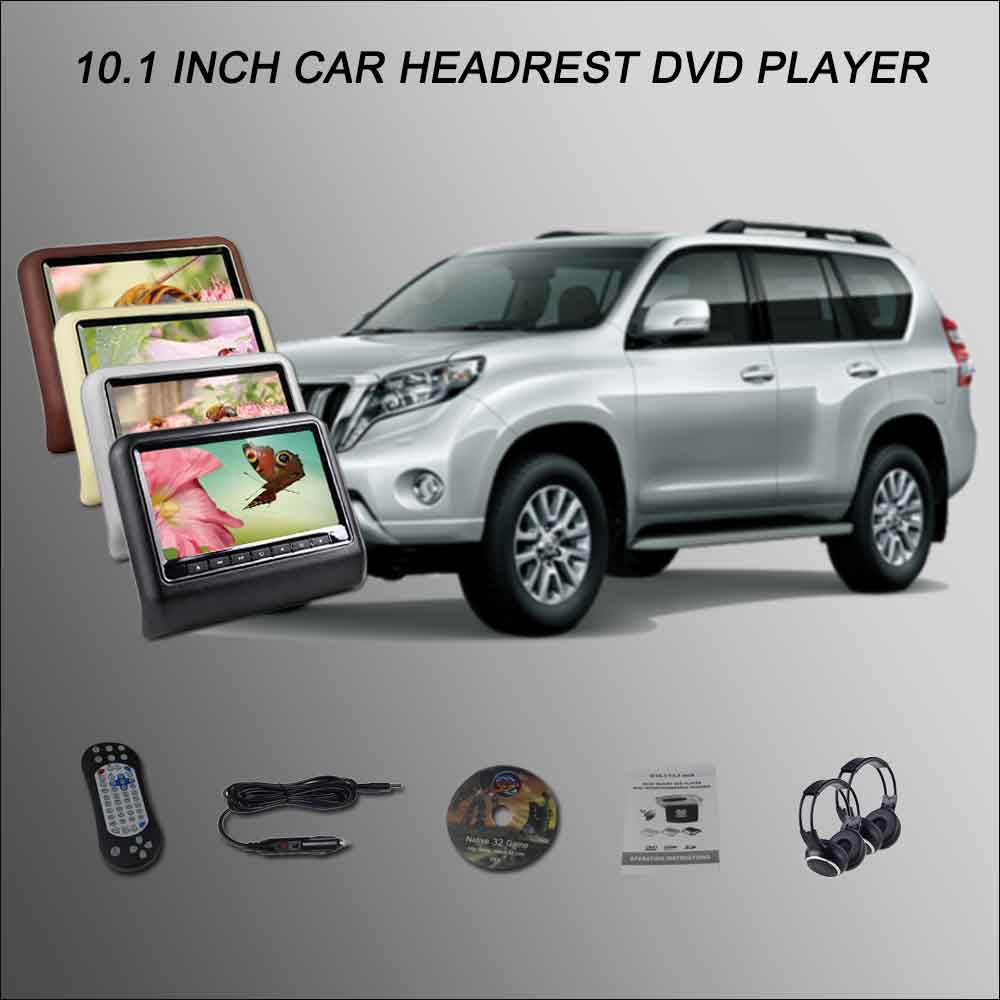 BigBigRoad Car Headrest Monitor /2*10.1 Screen Support USB SD DVD Player Games Remote Control For TOYOTA Prado