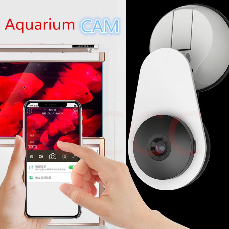 Aquarium Camera fish tank HD Camera AQ810  WiFi Smart Remote Monitoring Camera Aquarium Cam Monitor Remote viewing of aquariums-in Cleaning Tools from Home & Garden    1