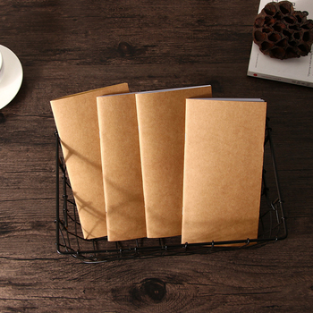10pcs/lot  Vintage Traveler's Notebook Blank Kraft  Paper Book Diary Notebook 110mmx210mm vintage leather notebook key design vintage cowhide paper retro straps diary doodle book notepads diary