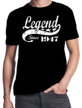 70th Birthday Legend Since 1947 70 Years Old Gift Idea Dad Present Black T Shirt Men Brand Printed 100 Cotton