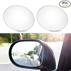 Urbanroad 2Pcs/Pair Car Wide Angle Rearview Side Mirror Round Convex Blind Spot Mirror 360 Degrees Wide Angle Round Car Mirror