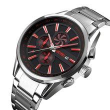 купить SKMEI Quartz Watch Stainless Steel Strap Calendar Watch 30m Waterproof Casual Outdoor Sport Watch Models Relogio Watches по цене 37.82 рублей