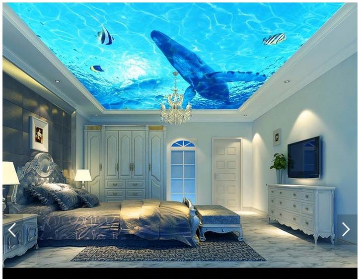 3d wallpaper custom 3d ceiling wallpaper murals suspended for Ceiling mural wallpaper