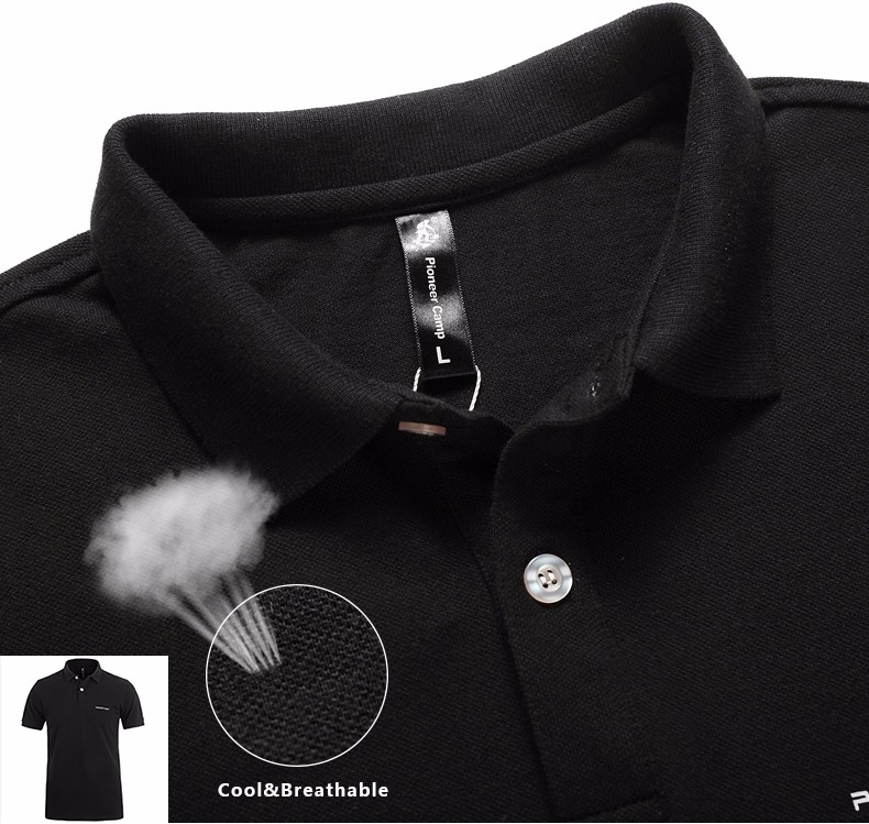Men Polo Shirt Men Business Casual Solid Male Polo Shirt Short Sleeve High Quality Pure Cotton 18