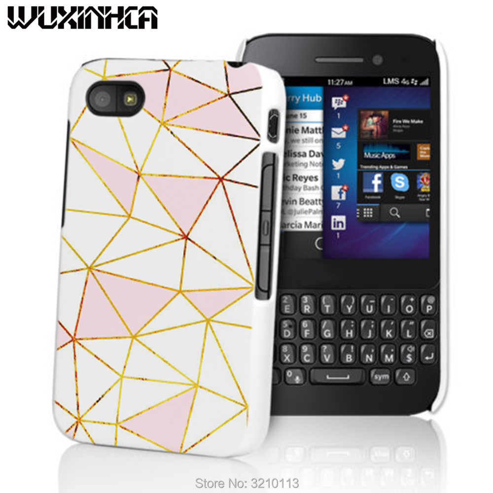 WUXINHCA High Quality Hard Plastic Case Cover For Blackberry Z10 Z30 A10 Q5 Q10 Q20 gold and white Patterns phone case(China)