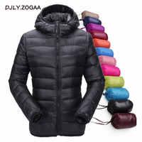 ZOGAA 2019 Novo Inverno Estudante Jaqueta de Algodão Acolchoado Quente Seção Fina das Mulheres Para Baixo Mulheres Casaco de inverno de Algodão Com Capuz Curto casaco