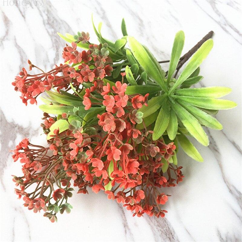 Wedding Stage Flower Decoration: 5PCS Red Artificial Flower Arrangement Stage Flower