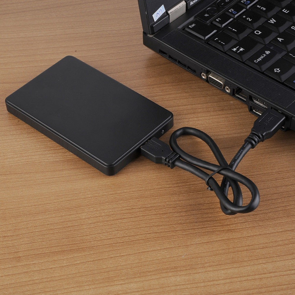 5 Inch USB HDD Case Sata to USB 2.0 Hard Drive Disk SATA External Enclosure HDD Hard Drive Box With USB Cable Drop Shipping 2 5 ide usb 2 0 external hard drive enclosure case black