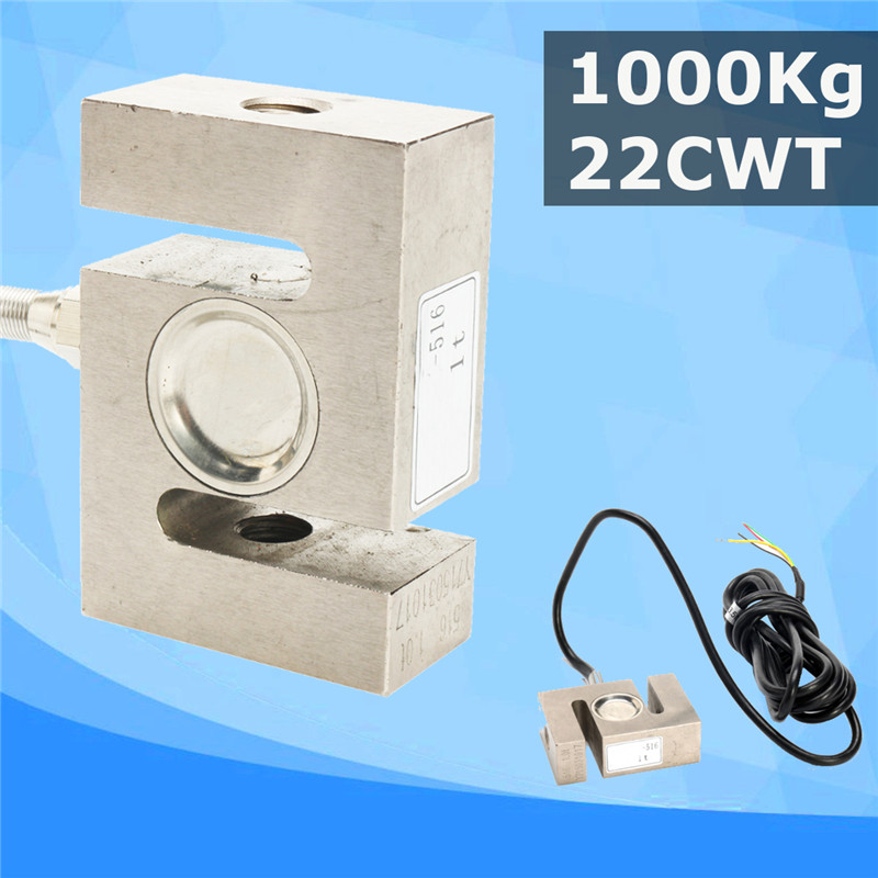 цена на 1000kg/22CWT S TYPE Beam Load Cell Scale Weight Weighting Sensor Electronic Measuring Tools Accessories With Cable