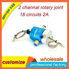 Senring elektrische schleifring mit 2 passagen drehgelenk/rotary union