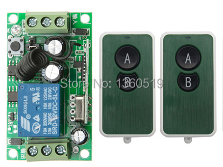 DC12V 1CH RF Wireless Remote Control System teleswitch 3transmitter and 1 receiver universal gate remote control /radio