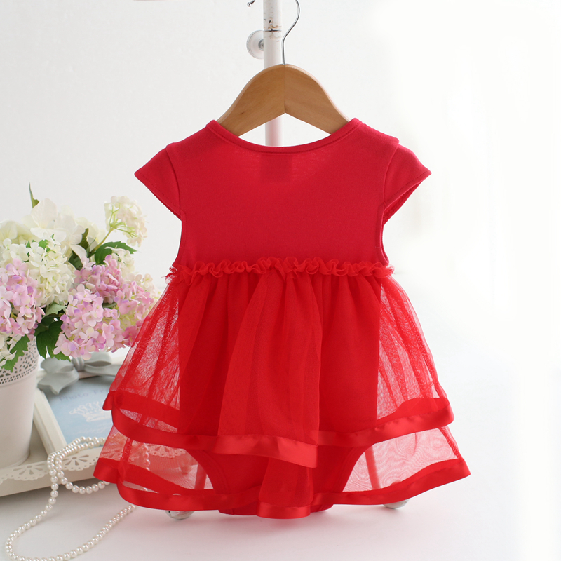 2017 Fashion Baby Clothes Newborn Kids Bebe Princess Tutu Bodysuit Playsuit Dress Children Beautiful Dresses Gift In From Mother