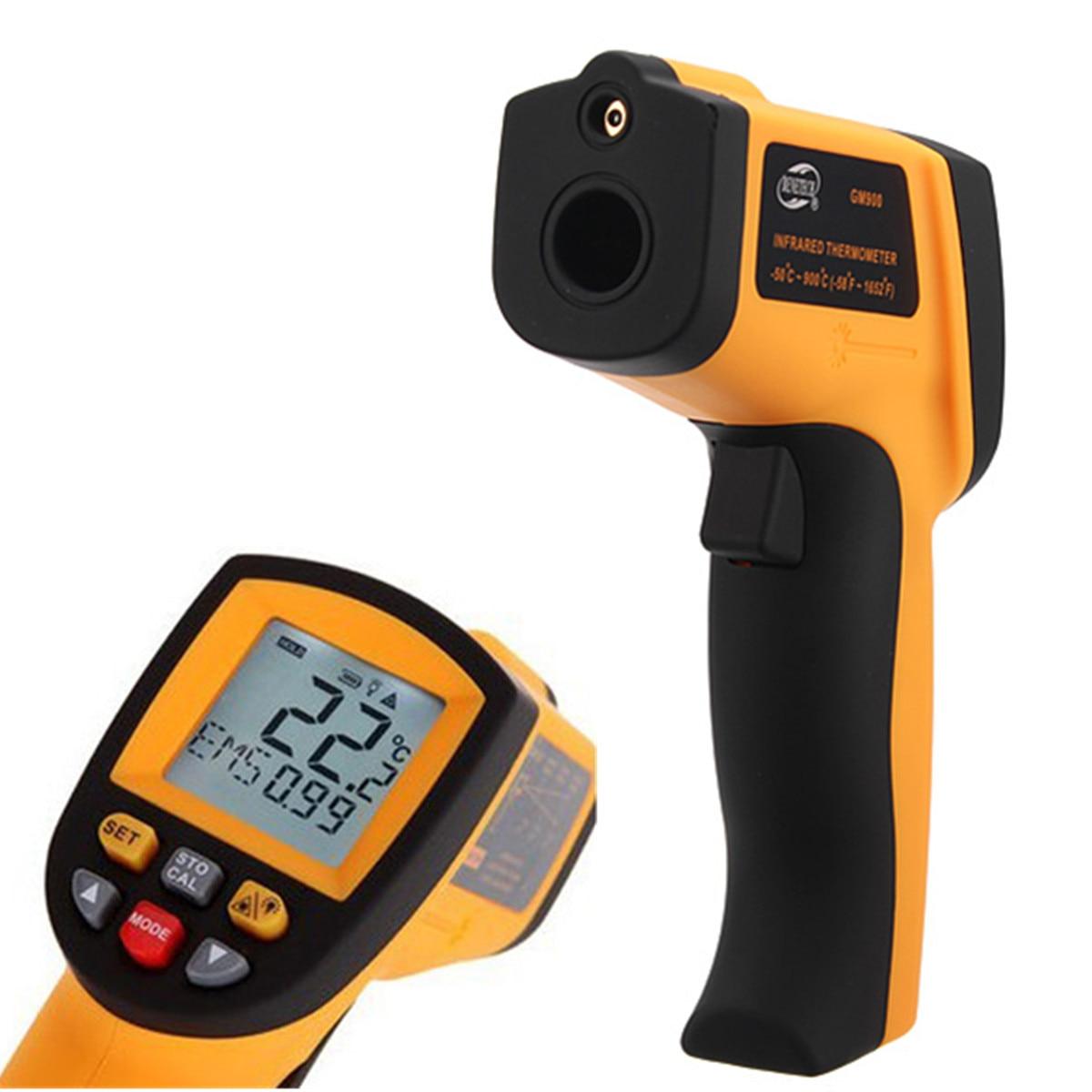 IR Temperature Gun GM900 Digital Non Contact IR Laser Infrared Thermometer Gun Tester Temperature Meter LCD -50~900 Degree цена