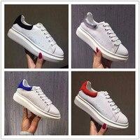 Шикарная женская повседневная обувь высокого качества из натуральной кожи Белая обувь 2019 весна осень runways платформа обувь EU35 40 Размер BY635