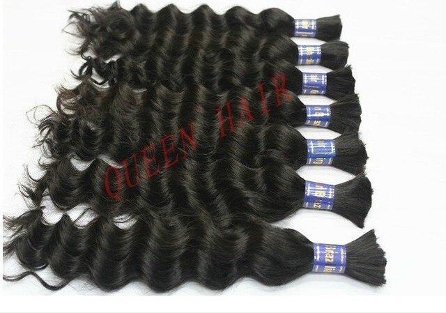 Queen hair:Cheap Brazilian Virgin hair bulk 8 inch to16 inch , Natural Black wholesale hair 8pcs/lot Top Quality