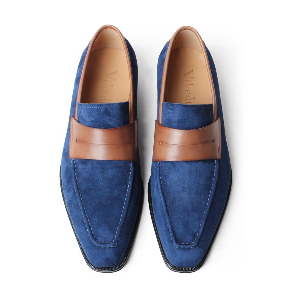VIKEDUO Elegant Men's Loafer Shoes Genuine Leather Handmade Wedding Footwear Mans Casual Suede Shoes Sllip On Zapato de Hombre - 6