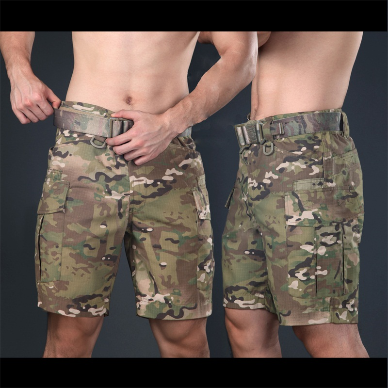 Tactical Multicam Military Shorts Multicam Tropic Knee Length Short Pants for Trainning Camouflage Ripstop Shorts Army Shorts