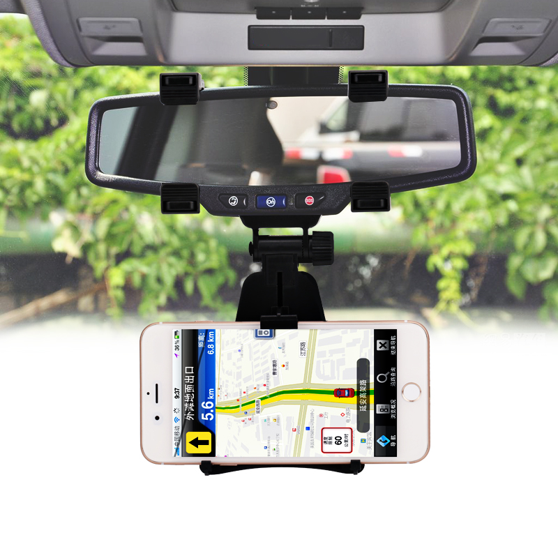 Universal 360 degree Mobile Phone Holder Car Mount Rearview Mirror Navigation GPS Holder Phone Holder Stand for BMW Audi Honda