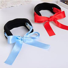 Black Corduroy Ribbon Bows Rope Hair Device Clip Pins for Women Headwear Hair Accessories for Girls