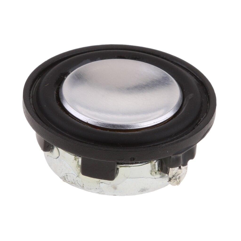 28mm 2W Stereo Audio Speaker 1 39 Inch 4Ohm Full range DIY Loudspeakern New Carbon Fiber amp Rubber Edge Material Durable in Speaker Accessories from Consumer Electronics