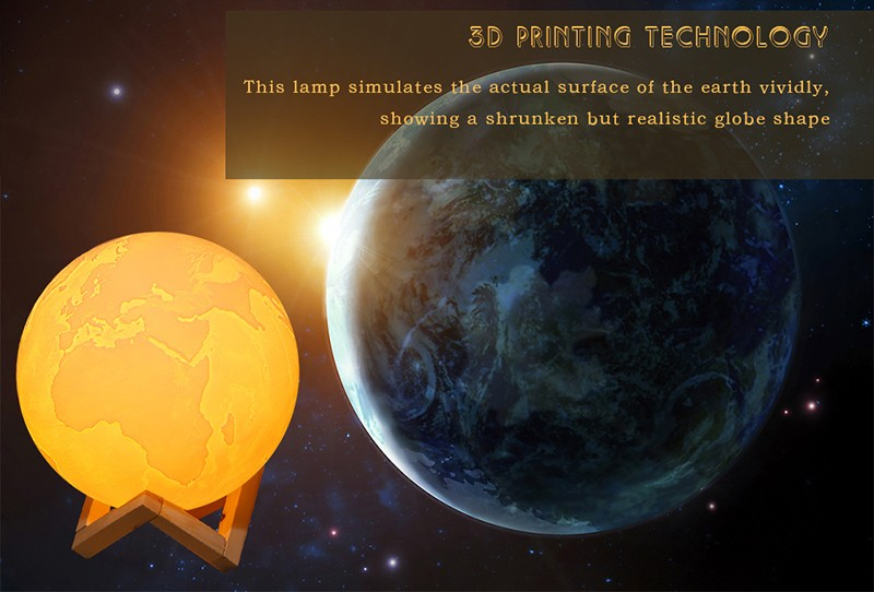 3D Print Earth Lamp