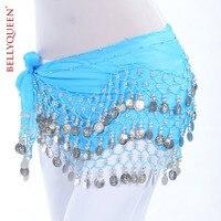 Belly Dance Hip Scarf Belt 158pcs Silve Coin 13 Colors