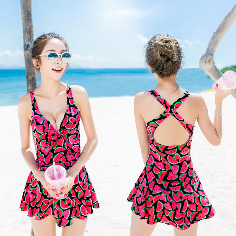 NIUMO Swimsuit Woman One-piece Skirt Swimsuit Leak Back Small Chest Gather Together New Hot Spring Swimwear Beach Vacation Swim niumo new beach sports swim swimsuit woman skirt style bikini three piece suit swimwear gather together hot spring swimwear